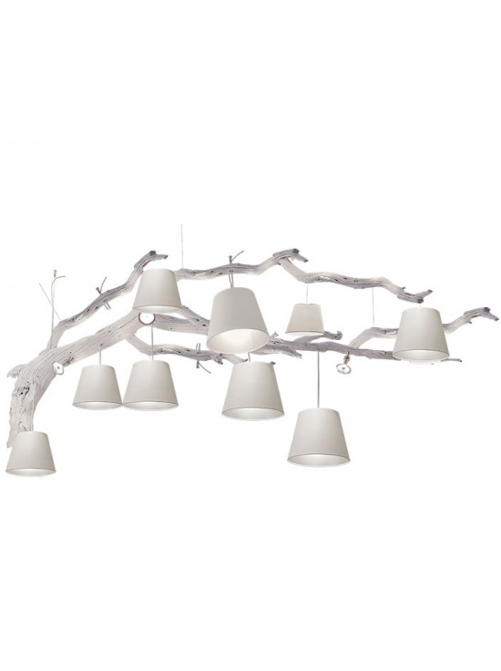 OAK hanglamp 12-L - wit  By Eric Kuster