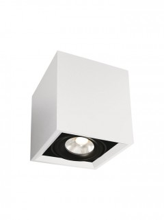 SQUARE ON 1-Lichts LED opbouwspot - wit