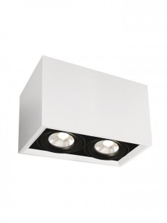 SQUARE ON LED 2-Lichts opbouwspot - wit
