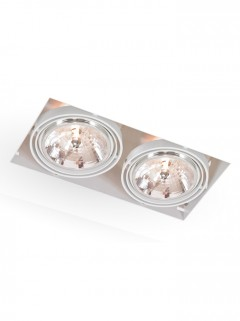 Square Trimless LED AR111 2-Lichts - wit