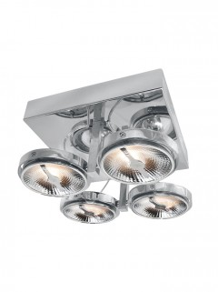 Chique 4-lichts AR111 LED chroom