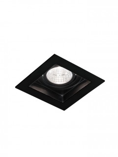 SQUARE HIDE BIG LED 7W - zwart IP44