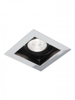 SQUARE HIDE BIG LED - chroom