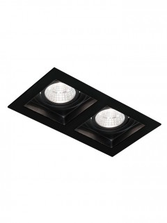 SQUARE HIDE BIG LED 2x 7W - zwart