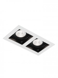 SQUARE HIDE BIG LED 2x 7W - wit
