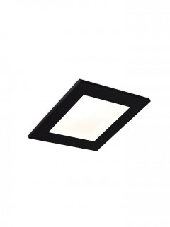 SQUARE GLASS LED 6,2W - zwart