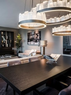 BLAKES Chandelier Ø900mm LED- brons By Eric Kuster