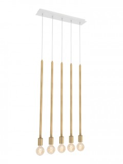 HUMBLE Pendant 5-L LED - messing BY Kolenik