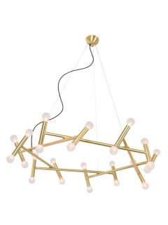 HELIOS Chandelier 24-L - messing By Sander van Eyk