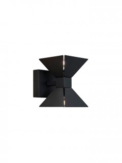 PYRAMID WALL up/down - zwart by Jan des Bouvrie