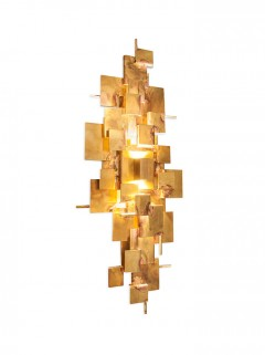 ABE Wall small LED by LOTZ Design - ruw messing