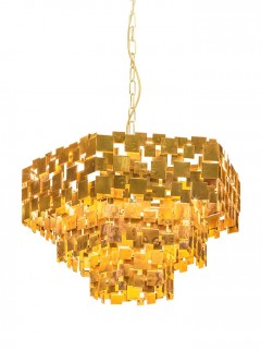 ABE Chandelier LED - ruw messing By LOTZ Design