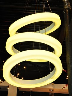 Hala AUREOOL 3-Rings LED - opaal