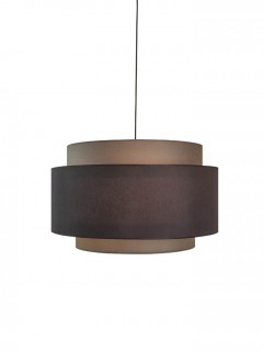 Halo Black pendelset  ton-sur-ton brown shade