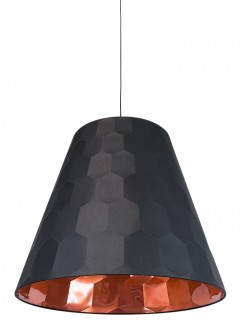 HEXAGON XL hanglamp-zwart/koper by Osiris Hertman
