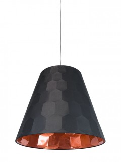 Hexagon L hanglamp- zwart/koper by Osiris Hertman