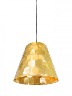 Hexagon M hanglamp - goud by Osiris Hertman