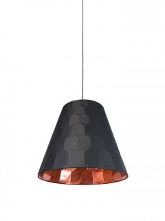 Hexagon S hanglamp - zwart/koper by Osiris Hertman